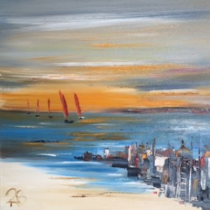 'Red Sails' by Rosanne Barr