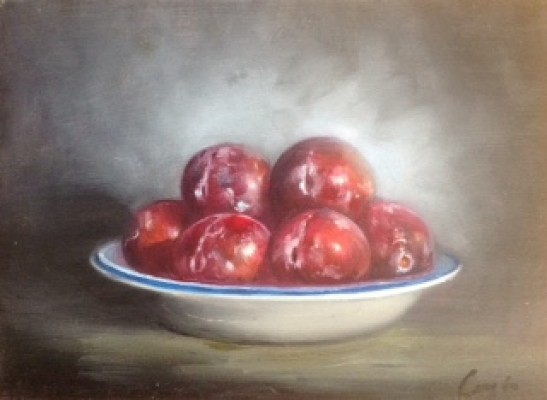 'Bowl of Plums' by Frank Laszlo