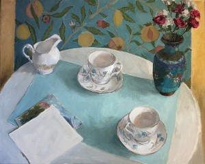 'Still Life with Teacups' by Rowena Diggle